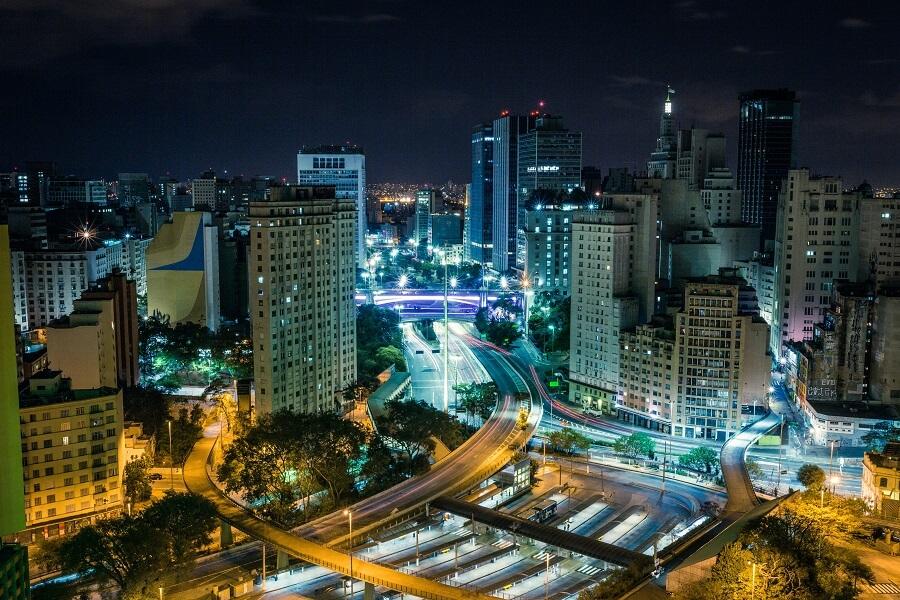 São Paulo vista a noite