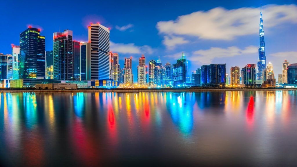 Vista de Dubai entardecer