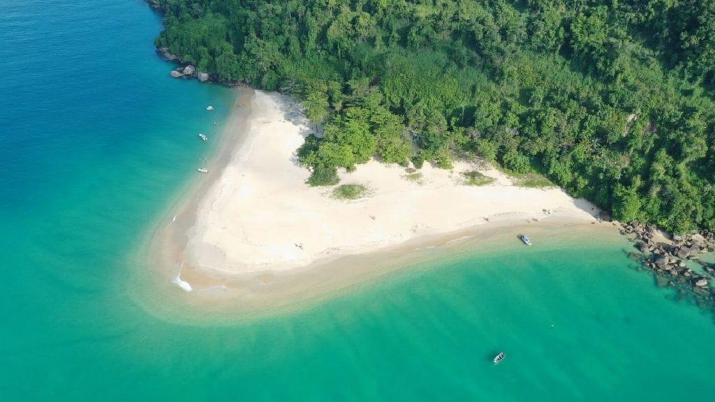 Vista ilha Prumirim - Ubatuba
