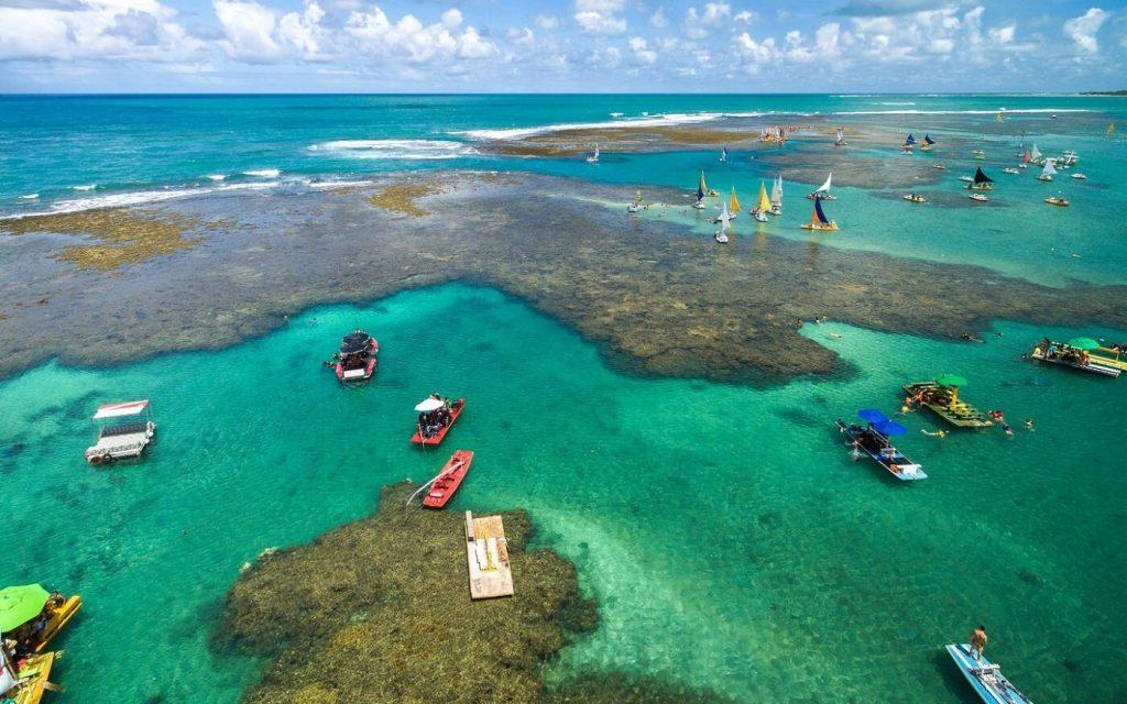 Vista de Ipojuca, recifes de coral