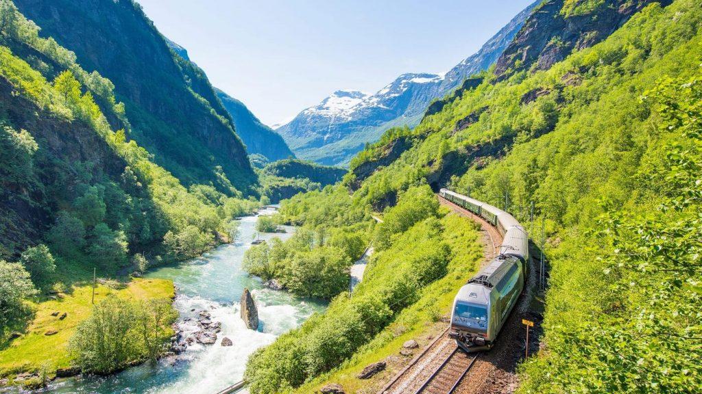 Flam-myrdal-passeio de trem