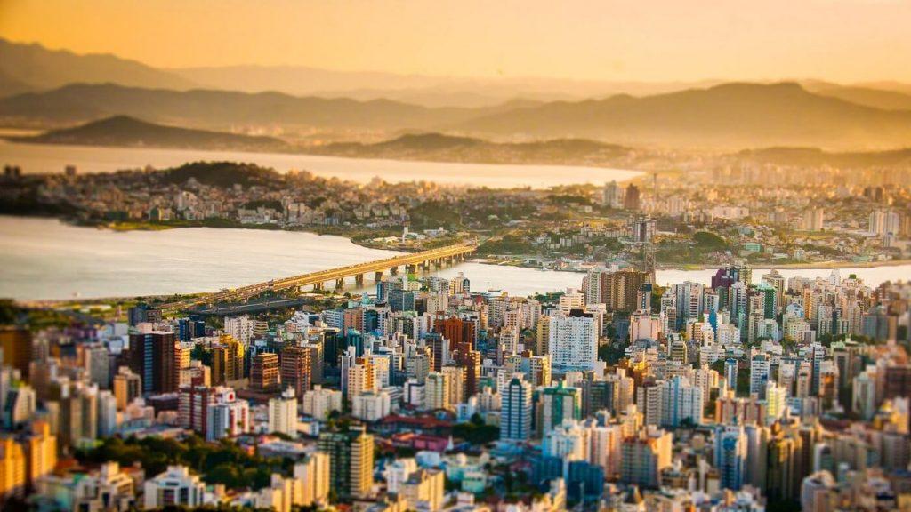 Vista Ilha de Santa Catarina