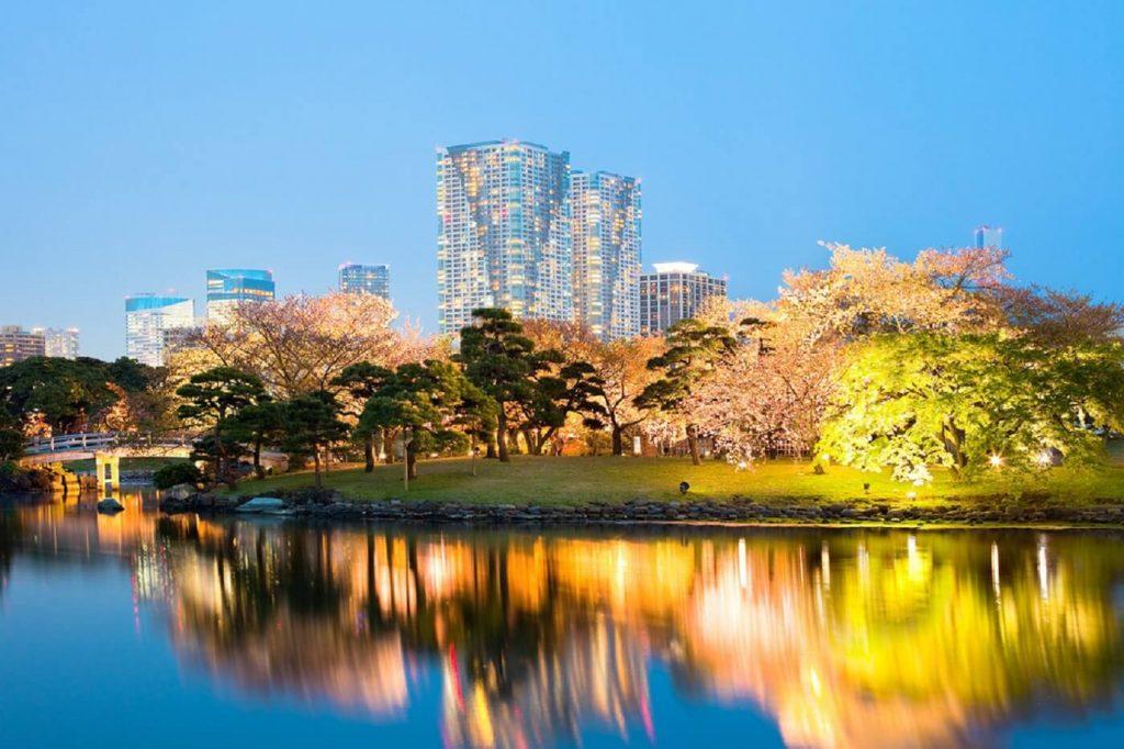 Jardins de Hamarikyu Tóquio, Japao