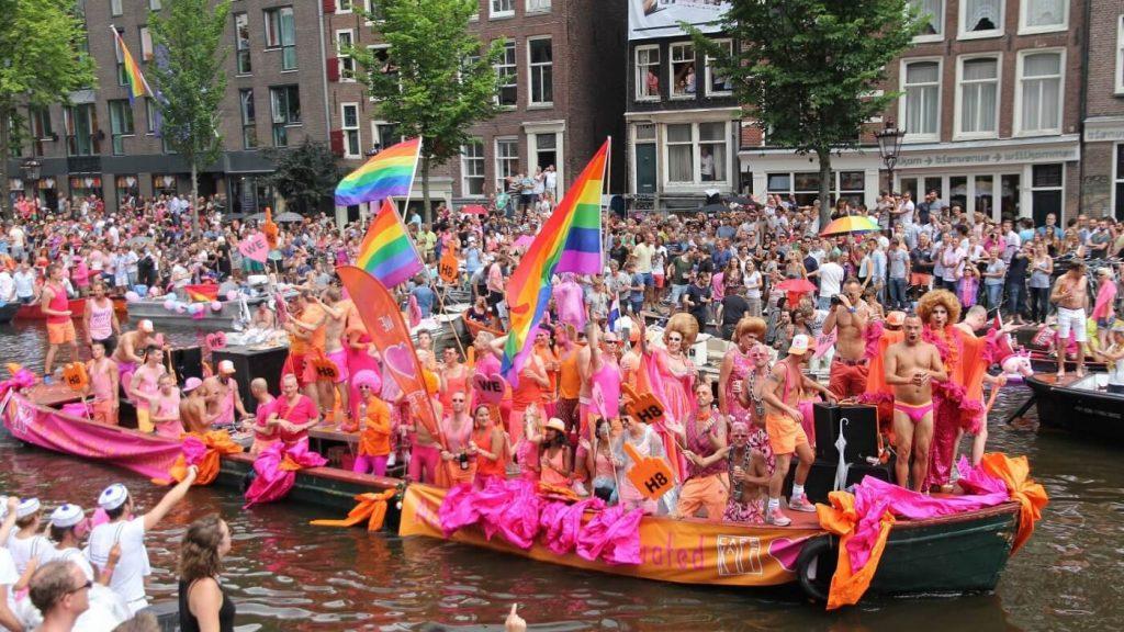 Gay Parade em Amsterdam