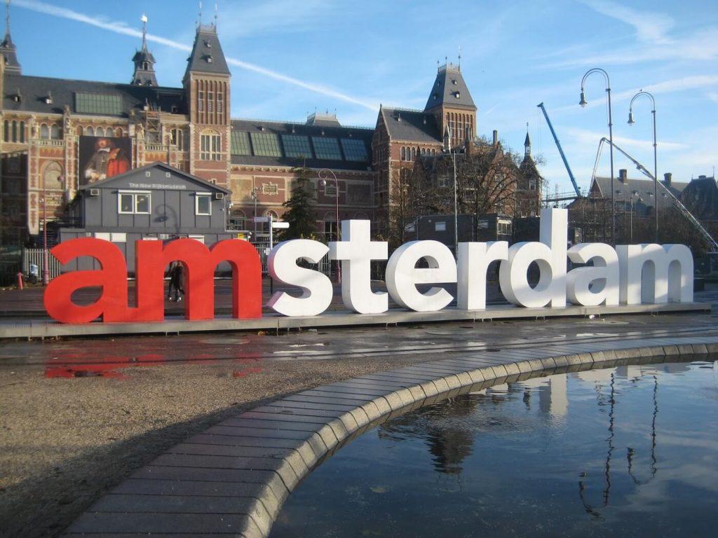 Letrieiro turístico Amsterdam
