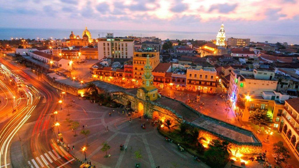 Entardecer em Cartagena