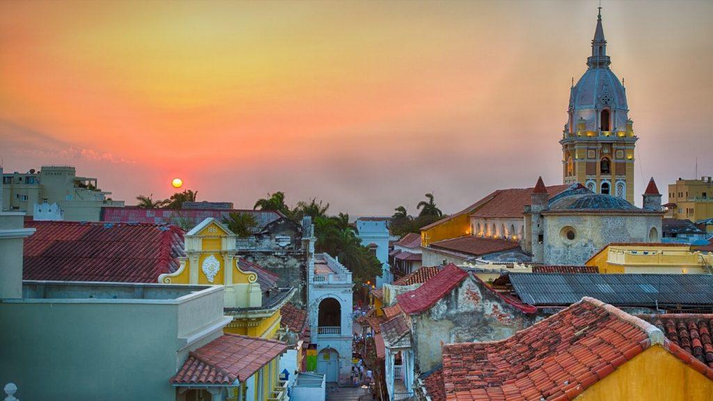 Vista de Cartagena ao Por do sol
