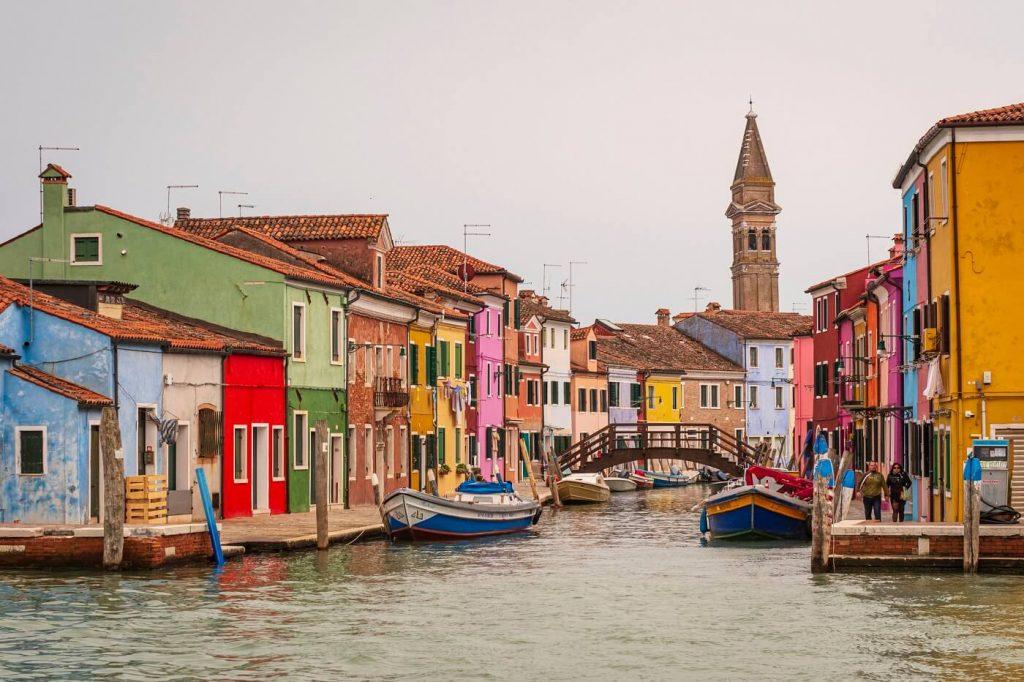Veneza e suas gôndolas paisagem