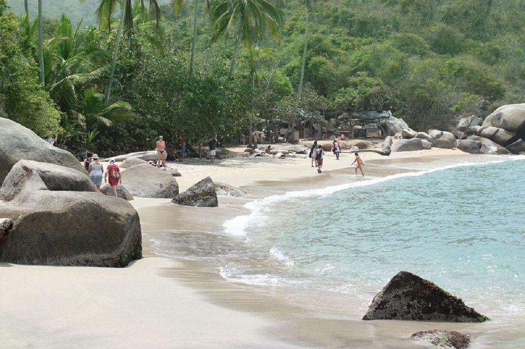 Praia do Parque Nacional Tayrona