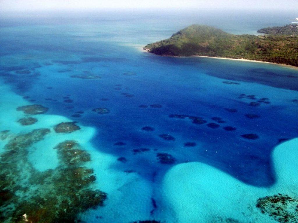 Recife de corais em San Andrés
