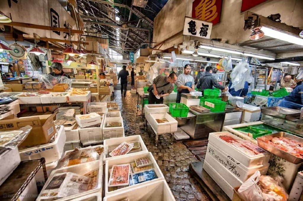 Mercado de Tsukiji, Tóquio Japão