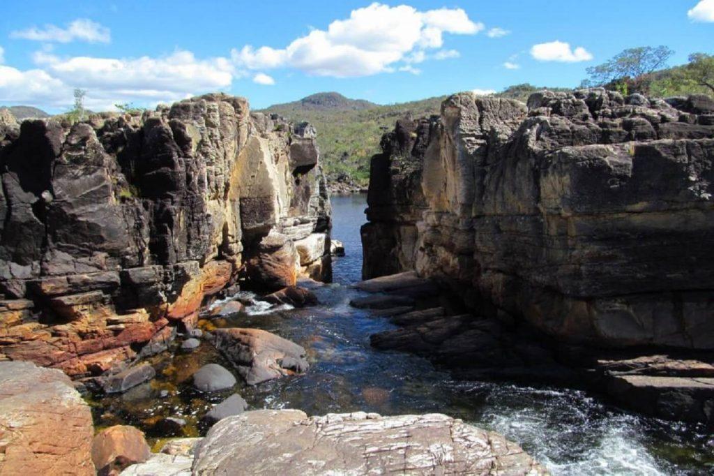 Canion do Parque nacional da Chapada dos veadeiros